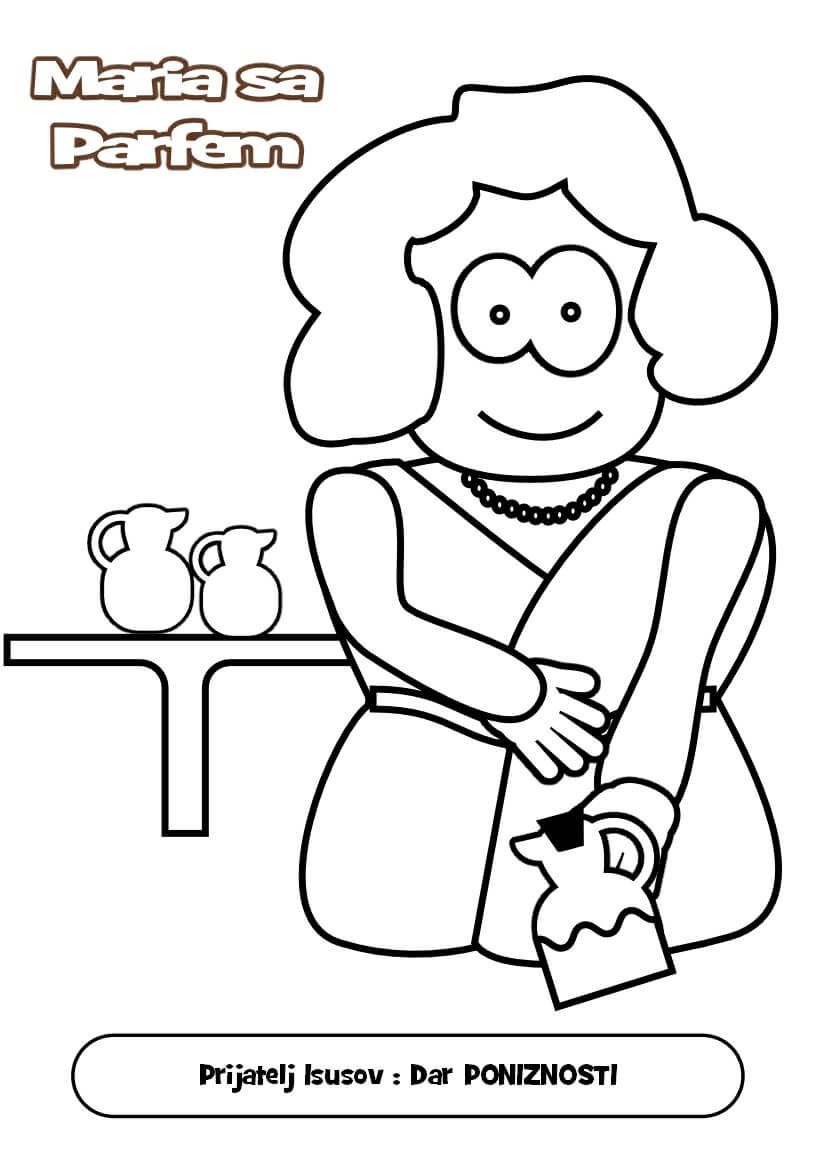 Free Bible Mary And Martha Coloring Pages