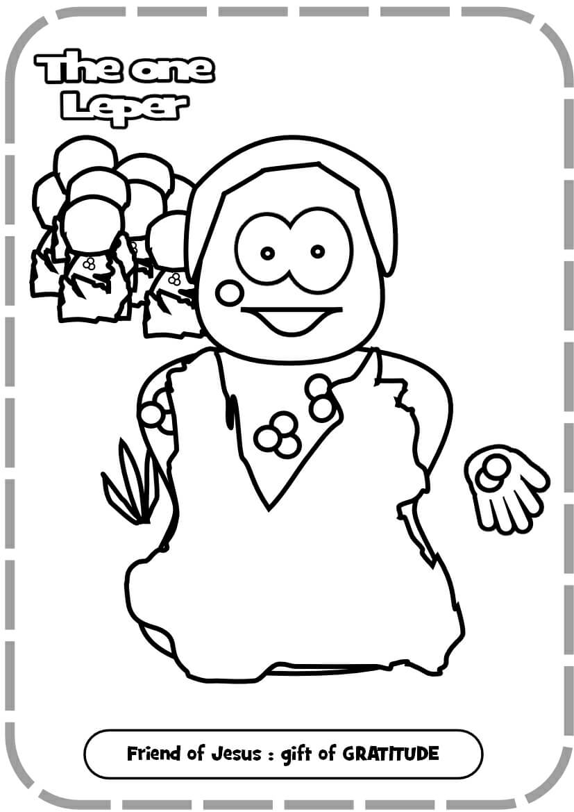 L012 Archives Jesus Without Language Ten Lepers Coloring Page