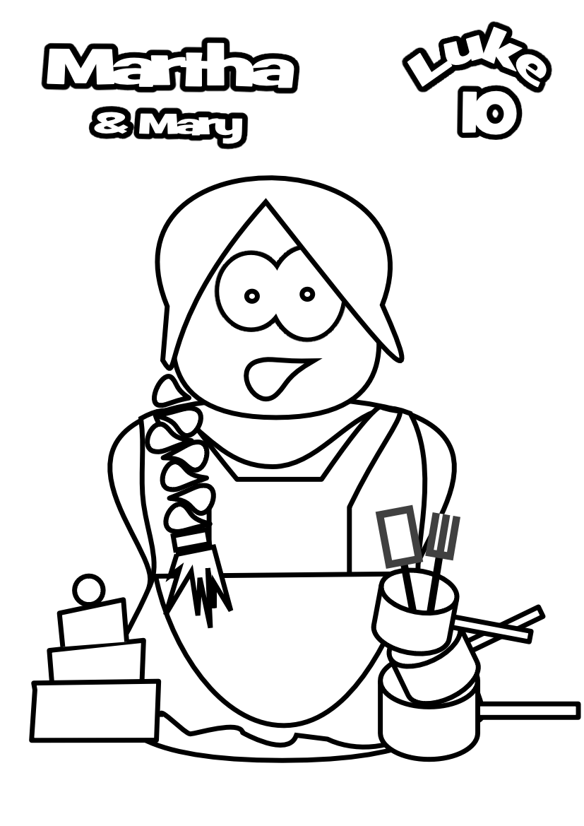 Mary Martha Lazarus Pages Coloring Pages