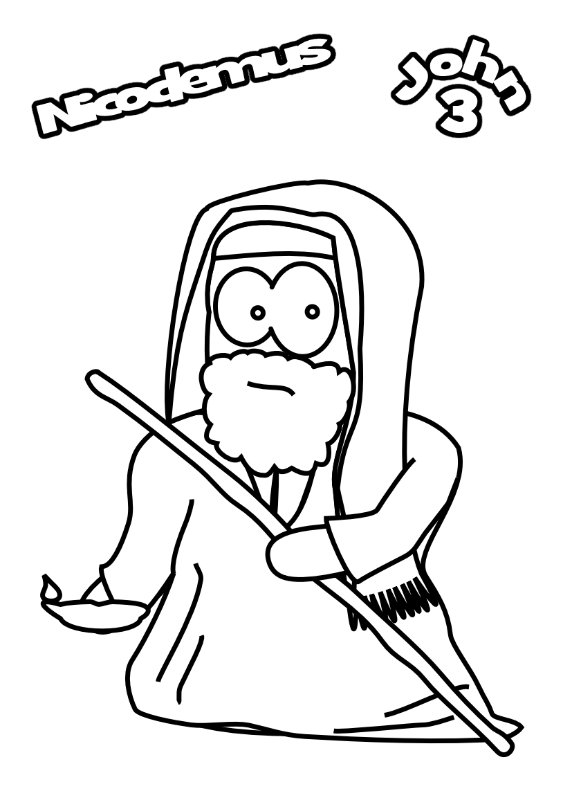 1000 Images About Nicodemus On Pinterest Jesus Coloring Free Pages
