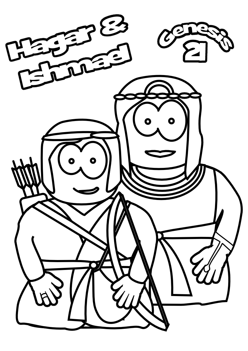 hagar and ishmael coloring pages - photo#26